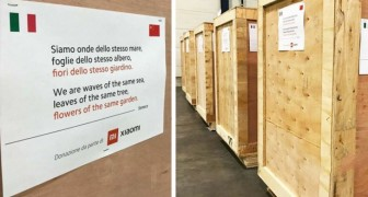 China sends thousands of masks to Italy and leaves a poem on the containers to express closeness to the Italians