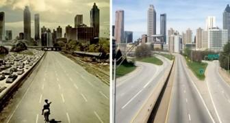 Coronavirus: un utente ricrea il poster di The Walking Dead fotografando le strade desolate della città