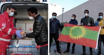 La comunità etiope di Milano dona scorte di cibo alla Croce Rossa:Ci avete salvato, ora vi aiutiamo noi