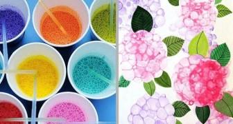 Dipingere con le bolle: un modo creativo e divertente per divertirsi con i bambini