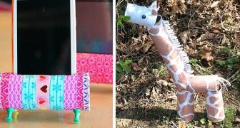 6 fantastici lavoretti per tutte le età da realizzare riciclando i rotoli di carta igienica