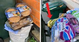 Panique liée au coronavirus : un conseiller photographie des poubelles remplies de nourriture fraîche jetée à la poubelle