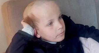 Under karantänen frågar en 5-årig pojke sin storebror om han kan klippa hans hår och ber om en gammaldags frisyr