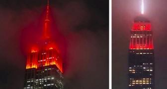 Coronavirus: L'Empire State Building si tinge di rosso per l'emergenza ma il risultato terrorizza i cittadini