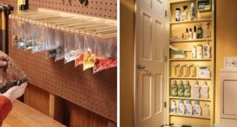 8 soluzioni ingegnose e creative per ricavare nuovi spazi dove riporre gli oggetti in casa