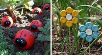 10 idee coloratissime per dare un tocco di allegria al giardino riciclando in modo creativo