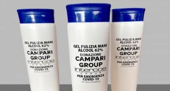 Coronavirus: Campari dona l'alcol per realizzare 15.000 bottiglie di gel destinate agli operatori sanitari
