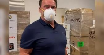 Arnold Schwarzenegger ha donato 1 milione di dollari per l'acquisto di mascherine protettive contro il Coronavirus