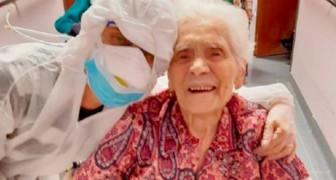 Coronaviruset - vid 104-års ålder är hon den äldsta kvinnan i Europa som blivit frisk från covid-19