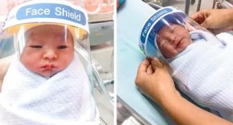 Coronavirus, in questo reparto i neonati vengono protetti dal contagio con mini visiere