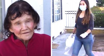 An elderly woman in isolation makes friends with the girl who delivers her shopping: I have no one else