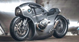 Questa moto BMW progettata da un garage russo sembra uscita da un film di fantascienza steampunk