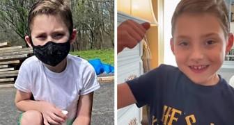 En 6-årig pojke med cystisk fibros blir frisk från coronaviruset jag är en krigare