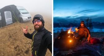 Trascorre l'isolamento in un camper tra i boschi: la scelta green di un giovane italiano che vuole vivere nella natura