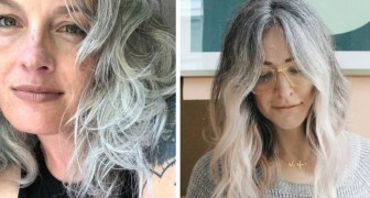More and more women refuse to color their hair and show off their natural color: white and grey hair are now trendy