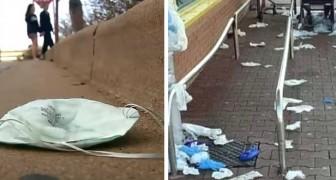 Onbeschoftheid en Coronavirus: handschoenen en maskers die op de grond worden gegooid, riskeren de planeet nog meer te vervuilen