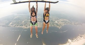 This Helicopter jump must be a scary, but crazy experience !!
