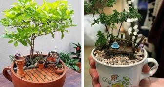 Menschen teilen Fotos ihrer Gärten in Teetassen: 12 originelle Miniatur-Märchenwelten