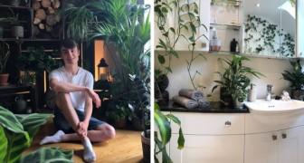 Questo ragazzo ha 1.400 piante nella sua casa e trascorre diverse ore ad innaffiarle ogni giorno