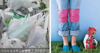 6 trovate semplici ma utili per riciclare le buste di plastica e aiutare l'ambiente