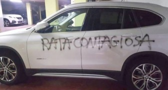 Contagious rat: vandals sprayed a doctor's car with a message filled with hate