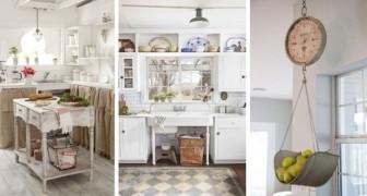 12 soluzioni eleganti per riciclare mobili e oggetti d'epoca arredando la cucina in stile vintage