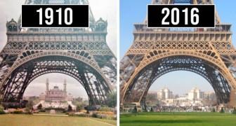 17 photographies avant et après qui illustrent le passage du temps dans certains des lieux les plus célèbres du monde