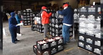 Coronavirus: steeds meer bedrijven geven onverkochte melk aan behoeftige families in plaats van het weg te gooien
