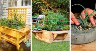 7 irresistibili progetti fai-da-te per realizzare in poco tempo fantastiche fioriere per il giardino