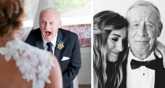 12 photos touchantes de pères qui ne peuvent pas contenir leur émotion en voyant leur fille se marier