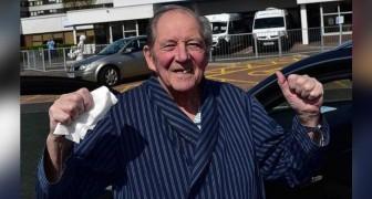 William, de opa met één long die het coronavirus versloeg na het verslaan van kanker