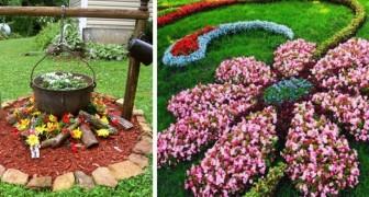 15 trovate originali e coloratissime per realizzare delle magnifiche aiuole in giardino