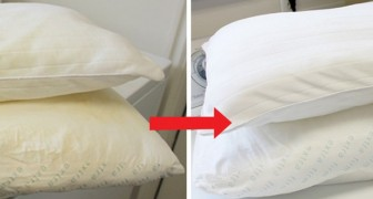 5 Hausmittel, um vergilbte Kopfkissen kostengünstig zu reingen und zu bleichen