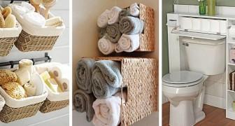 15 trovate pratiche e ingegnose per organizzare al meglio lo spazio anche nel bagno più piccolo