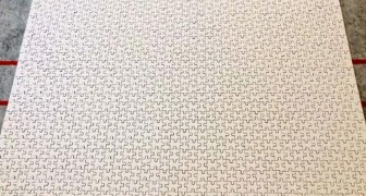 Een volledig witte puzzel van 1000 stukjes: een uitdaging om in elkaar te zetten voor mensen met veel tijd en geduld