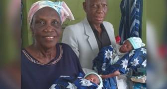 Depois de tentar por décadas, ela se tornou mãe aos 68 anos, dando à luz a dois lindos gêmeos