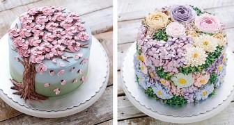 Les pâtissiers partagent leurs magnifiques gâteaux floraux pour célébrer le printemps de façon très sucrée