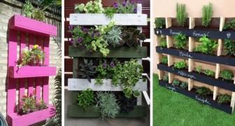 12 splendide idee per trasformare i pallet in affascinanti fioriere e giardini verticali