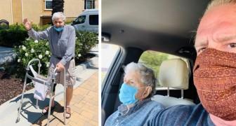 93-jähriger trampt, um für sich und seine Frau eine Tafel Schokolade zu kaufen