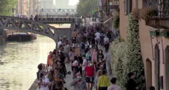 Milano: a quattro giorni dalla Fase 2, i Navigli sono stati presi d'assalto dai residenti in barba alla cautela