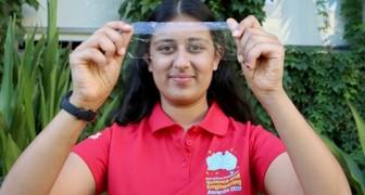 À 17 ans, elle invente un plastique biodégradable à partir de carapaces de crevettes et de cocons de soie : il se décompose en 33 jours seulement