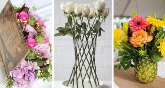 16 spunti incantevoli per disporre i fiori in casa creando composizioni scenografiche