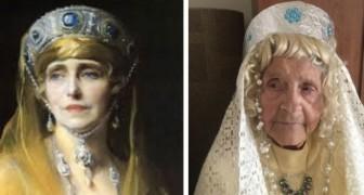 Ouderen in een verpleeghuis maken 11 beroemde kunstwerken na, de een nog leuker dan de ander