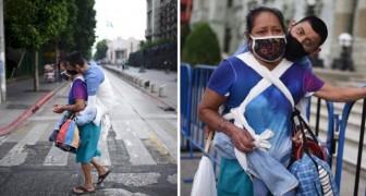 En plena pandemia está obligada a pedir limosna junto a su hijo discapacitado para pagar el alquiler