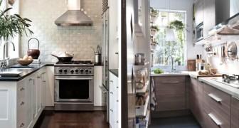 12 proposte d'arredo pratiche e piene di stile per sfruttare al meglio lo spazio in una cucina piccola