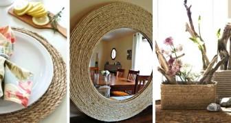 13 affascinanti idee per arredare casa utilizzando della semplice corda: una soluzione economica ed elegante