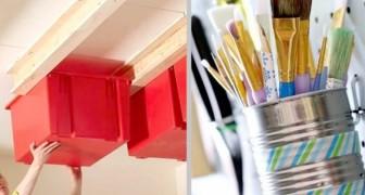 20 zeer praktische oplossingen om die extra ruimte te krijgen die je nodig had, in de garage of de bergkast