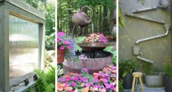 10 splendide idee per abbellire il giardino creando fontane e giochi d'acqua fai-da-te
