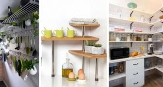 13 idee pratiche e intelligenti per allestire ripiani e scaffali in cucina e organizzare meglio gli spazi