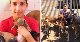 Een 17-jarige jongen vervult zijn droom door een opvanghuis te openen voor achtergelaten dieren